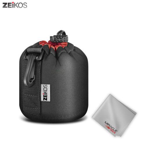Zeikos Small Size Lens Case Pouch for DSLR Camera Lens + Fre