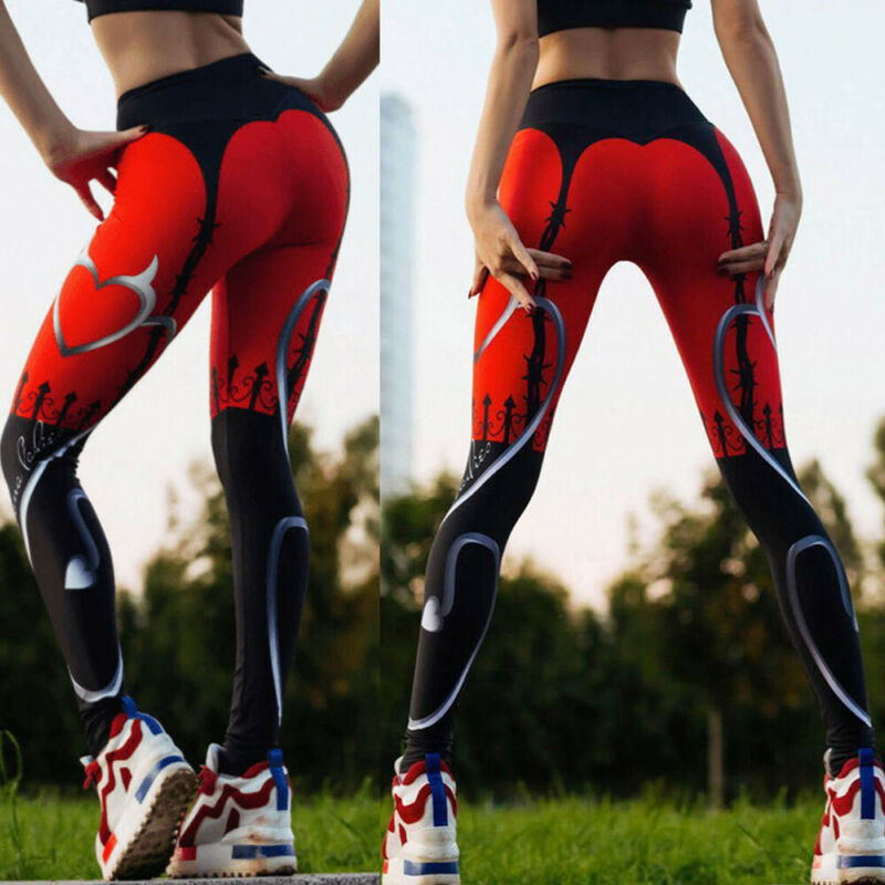 Women High Waist Yoga Pants Butt Lift Leggings Workout Ruched Booty Gym Trousers 5