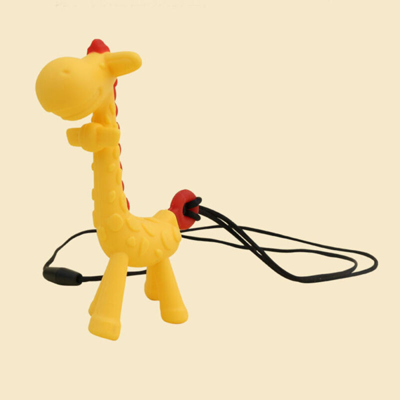 Food Grade Silicone Giraffe Baby Teether Toy Pacifier Chew R