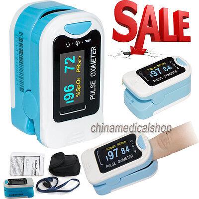US Finger Fingertip Blood Oxygen Meter SPO2 OLED Pulse Heart Rate Monitor,Pouch