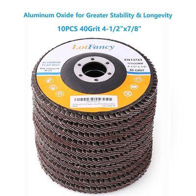 4-12 40 Grit Aluminum Flap Discs Sanding Grinding 4.5 78 Angle Grinder Wheel