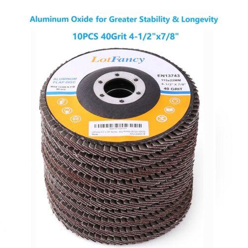 "4-1/2"" 40 Grit Aluminum Flap Discs Sanding Grinding 4.5 7/8"" Angle Grinder Wheel"