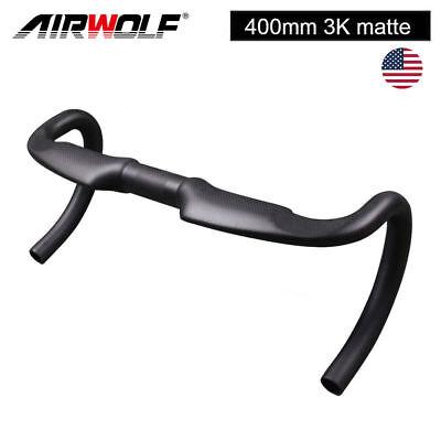 Airwolf carbon fiber racing bike bicycle drop handlebar 400mm 3K matte road bars ()