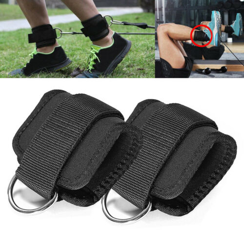2pc Resistance Band D-ring Ankle Straps Leg Power Training G