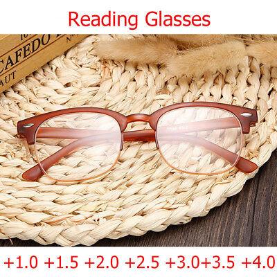 Reading Glasses +3.00 Resin Lens Women Plastic Half Frames Unisex Reader Eyewear