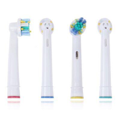 4 x Recambios Compatibles con Cepillo de Dientes Oral B Floss Action Clean