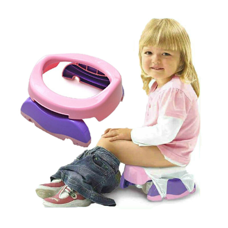 Child Portable Toilet Baby Travel Potty Folding Chair with 10 PP Bags