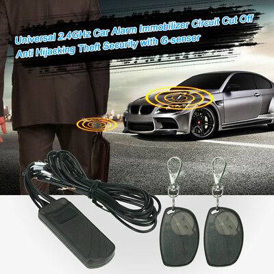 Car Alarm System RFID Immobilizer Cut Off Anti Hijacking Theft Security X3S6 ()
