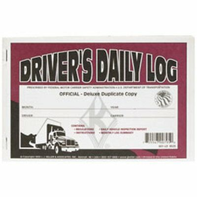 J.J. Keller - Deluxe Driver's Daily Log Book with Detailed DVIR, 12 Books