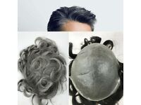Grey Color and Brown ColorHuman Hair Poly Skin Film Pu Hair Replacement Factory