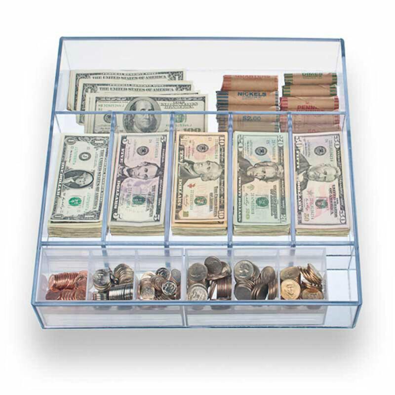 Clear Money Tray - 14-5/8W x 3H x 15L