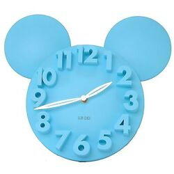 Modern Design Home Decor Decoration Mickey Mouse Big Digit 3D Wall Clock-Blue