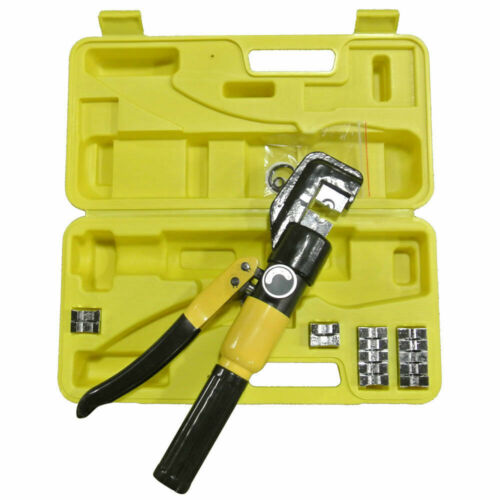 YQK- 70 10 Ton Hydraulic Cable Crimper + 9 Dies / Carrying Case Crimping Tool