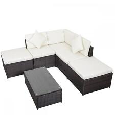 6 PCS Outdoor Patio Sofa Sectional Furniture PE Wicker Rattan Deck Couch F19