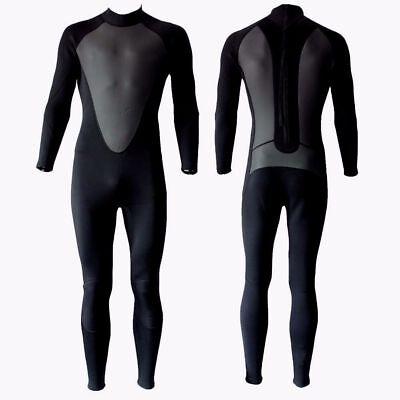 4073c9b534 3 2mm Wetsuit Mens Size Large Full Body Back Zip 3 2 3 2 mm Black Neoprene  New