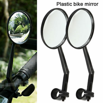 2-pack Universal Rotary Handlebar Glass Rear View Mirror for Road Bike Bicycle