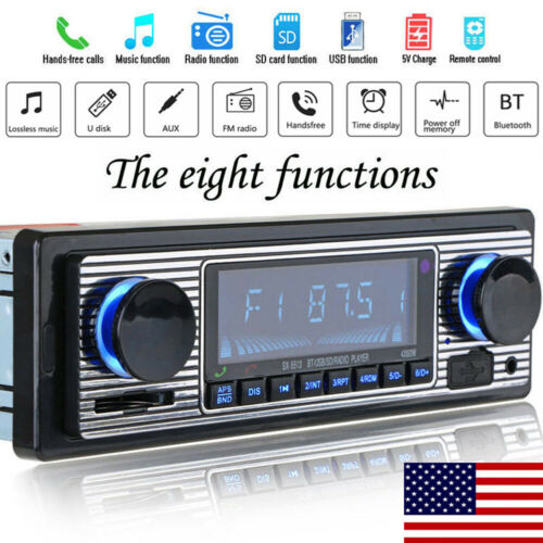 us vintage car bluetooth radio mp3 player