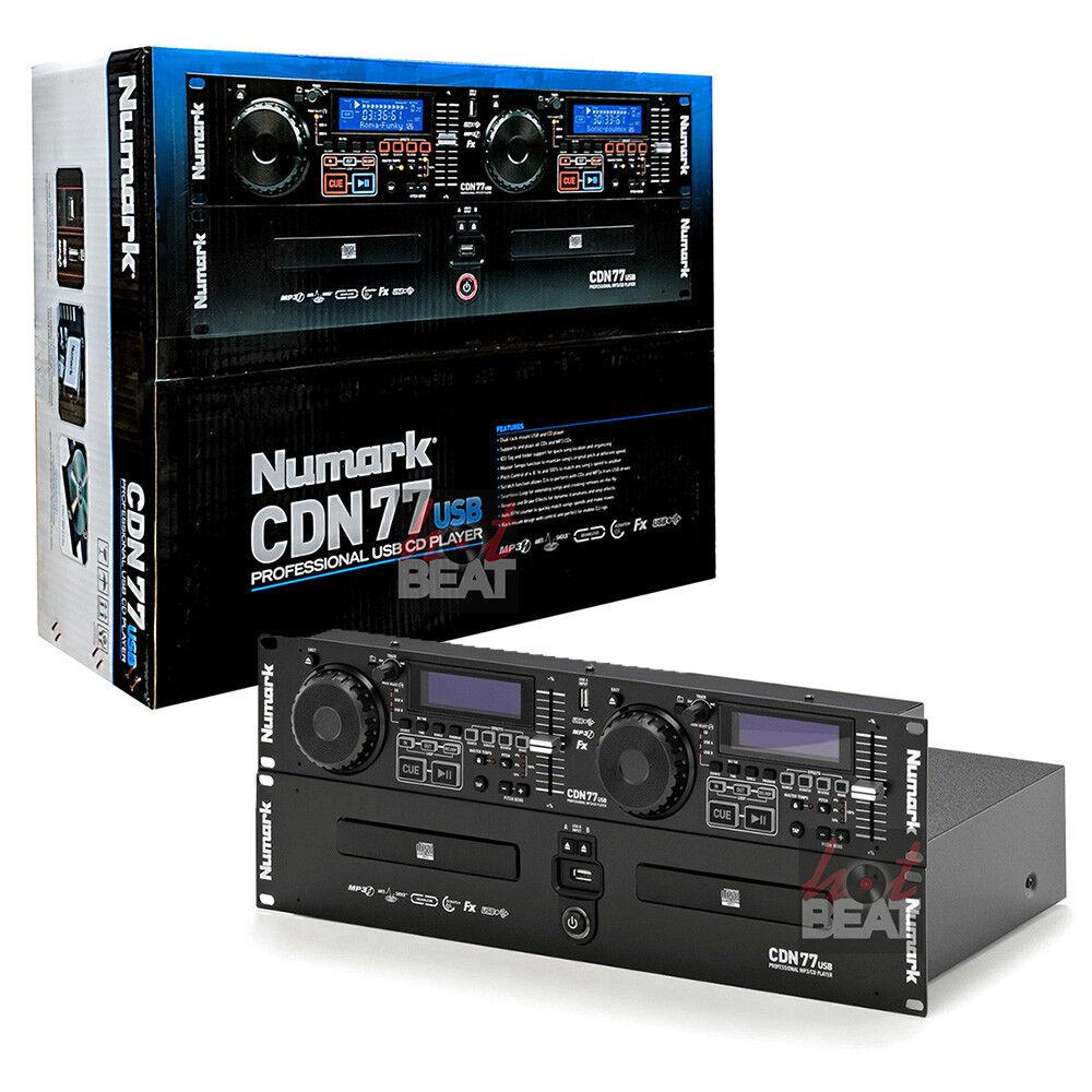 как выглядит Numark CDN77USB Professional Dual USB MP3 Rack Mounted CD Player 110-220 V фото
