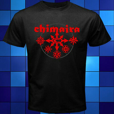 New Chimaira Red Logo Metal Rock Band Black T-Shirt Size S M L XL 2XL 3XL
