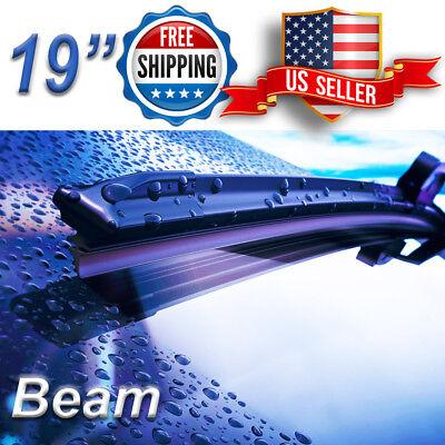 19 Inch Wiper Blades All Season Bracketless Windshield J HOOK Beam Style