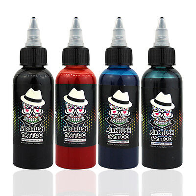 New OPHIR 60ml/Bottle Airbrush Temporary Tattoo Ink for Airbrush