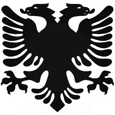 Albanian Flag Eagle Sticker 6 (Albanian Eagle)