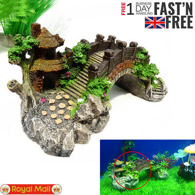 Home Fish Tank Decor Accessories Coral Reef Boat Castle Bridge Aquarium Ornament