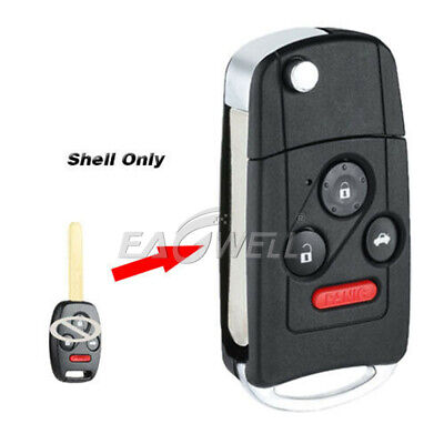 USA For Honda Accord Civic CRV 3+1 Button Folding Flip Key Shell Remote Case Fob Honda Accord Remote