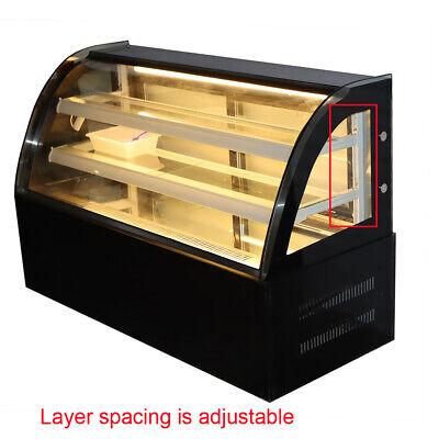 47 W Bakery Showcase Countertop Refrigerated Display Case Back Door Moisturize