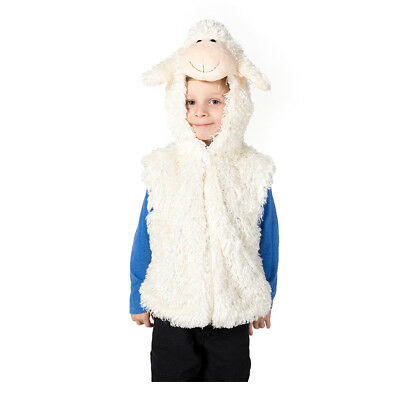 KIDS CHILDRENS GIRLS BOYS NATIVITY PLAY SHEEP FARM ANIMAL COSTUME OUTFIT AGE 3-7