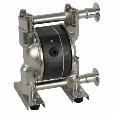 Dayton 22a603 Double Diaphragm Pump 316 Stainless Steel Air Operated Ptfe 14