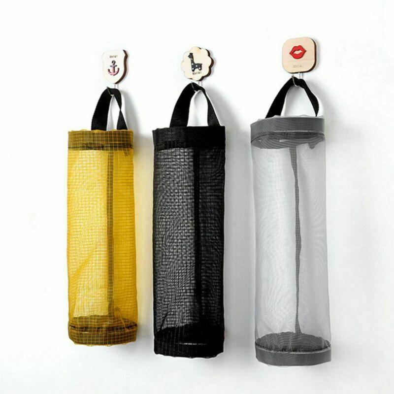Grocery Bag Holder Wall Mount Storage Plastic Dispenser Home