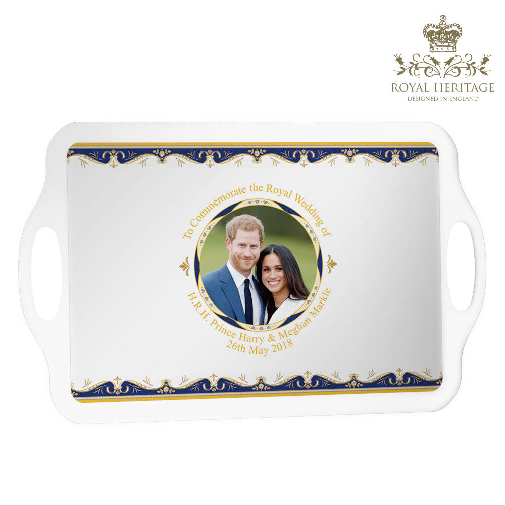 ROYAL WEDDING HARRY AND MEGHAN COMMEMORATIVE LAP TRAY LARGE