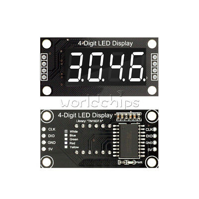 White 0.36 Tm1637 7-segment 4-digit Digital Tube Led Display Module For Arduino