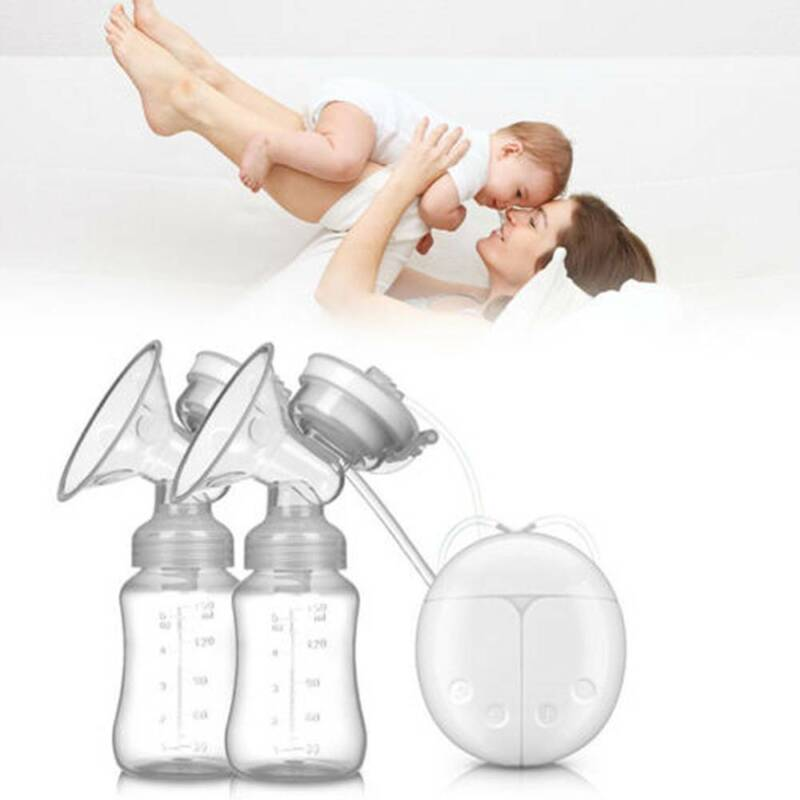USB Electric Double Breast Pump Automatic Breastpump Bottle