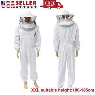 Beekeeper Protect Full Body Beekeeping Suit Jacket Safty Veil Hat Equipment Hood