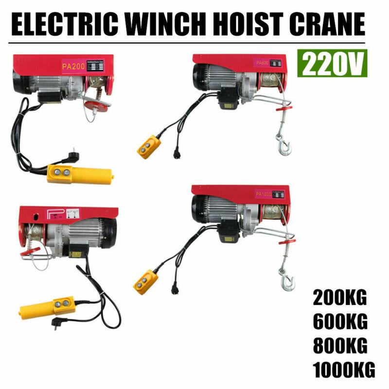 Overhead Electric Hoist Crane Lifting Overhead Garage Winch 200-1000KG 220V DHL