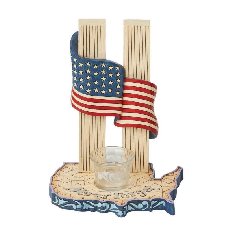 Jim Shore Heartwood Creek Never Forget 9-11 Candleholder 6008787