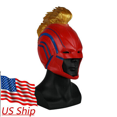 2019 Movie Captain Marvel Mask Superhero Women Carol Danvers Halloween Helmet - Halloween Superheroes