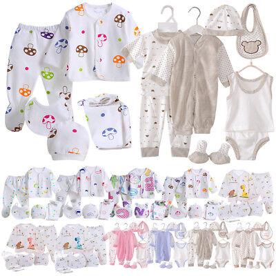 Baby Girl Boy Newborn Crown Layette 5 Piece or 8 Piece Suit Gift Set 0-3 Months