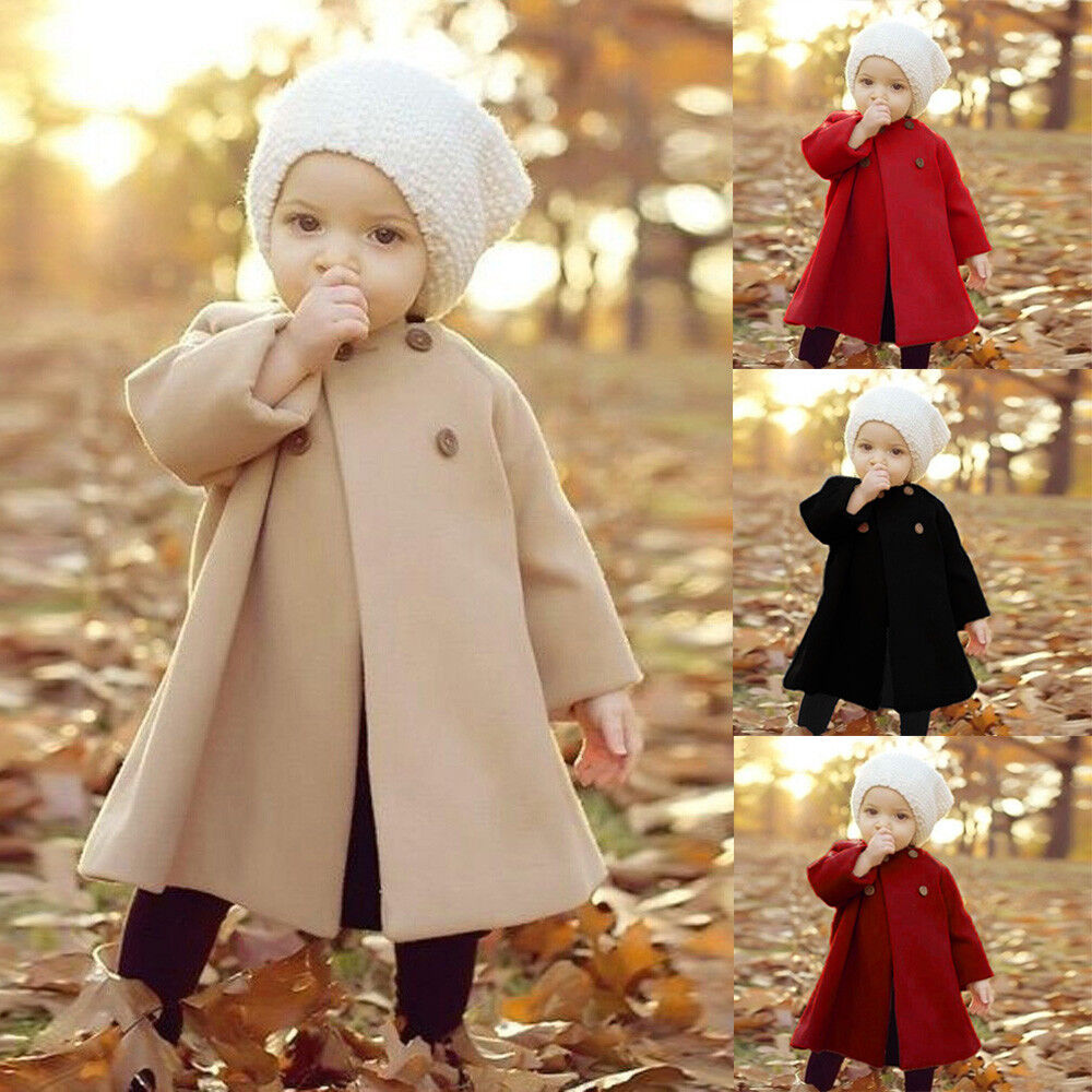 764171c52 Details about Fall Toddler Kids Girls Baby Winter Outerwear Long  Windbreaker Cloak Jacket Coat