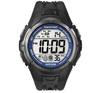 Timex T5K359 Mens Ironman Marathon Digital Watch - Brand New