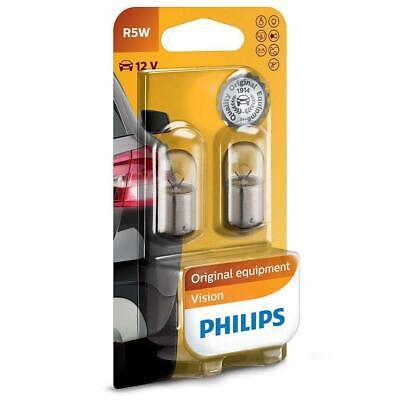 2x Philips 12821B2 Car Indicators-Interior Bulbs R5W Vision 5W 12V BA15s