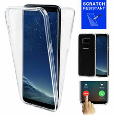 Samsung S7 S7 Edge S8 S9 S10 S10+ 360° Double Sided Transparent Clear Case Cover