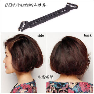Hot Women Hair Bun Updo Fold Long Hair Become Short Wrap