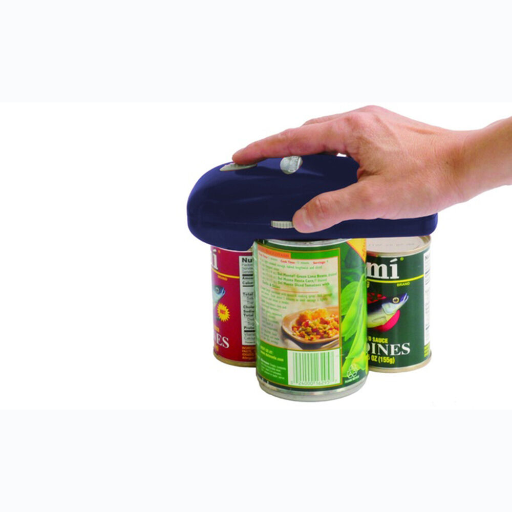 As Seen on TV Handy Can Opener BLUE Automatic Hands-Free Can