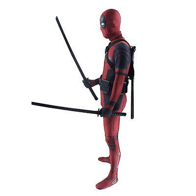 Halloween Adult Ma Deadpool Costume  Spandex Lycra Zentai Bodysuit  Cosplay Suit