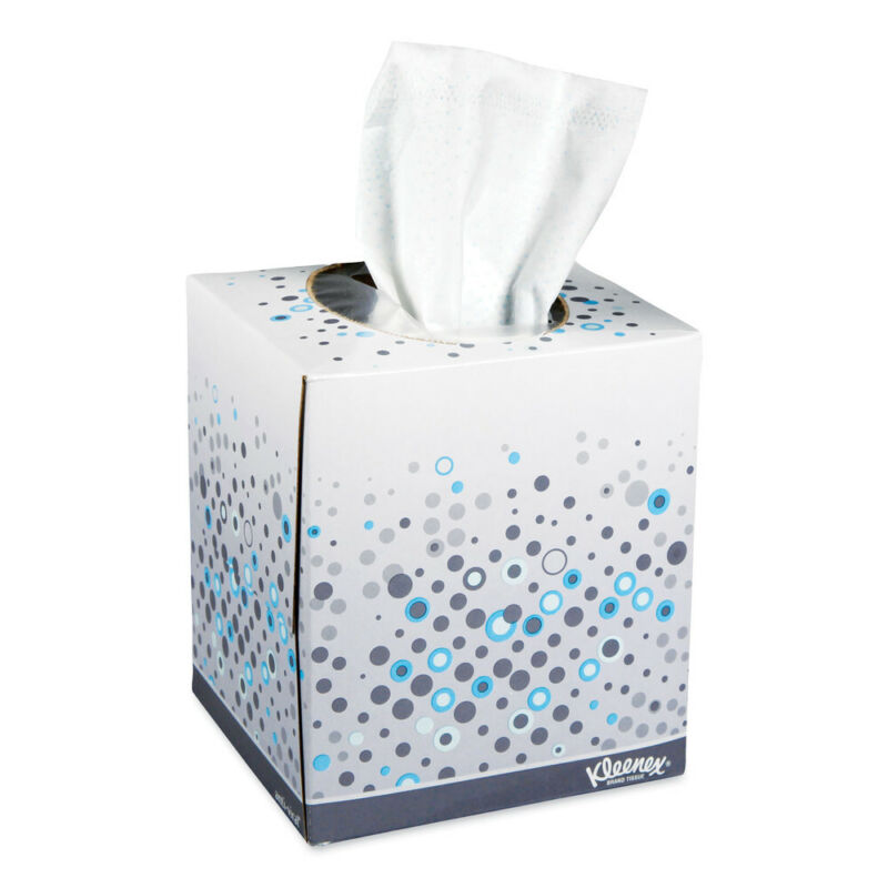 Kleenex 21286 60/BX 3 BX/PK Boutique Anti-Viral Tissue - 3-Ply, White New