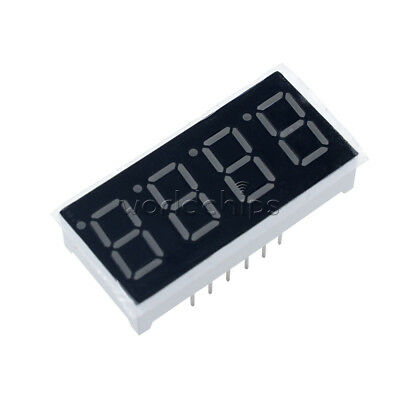 5pcs 0.36 7 Segment 4 Digit Common Cathode 0.36 Inch Red Led Digital Display