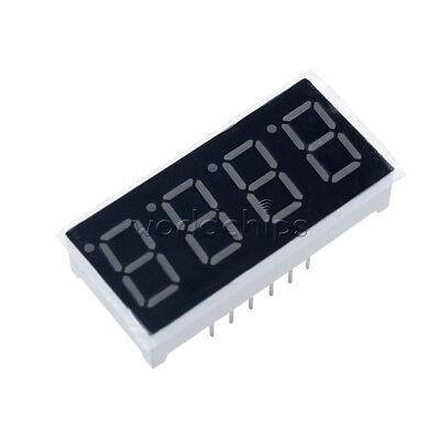 5pcs 0.36 7 Segment 4 Digit Common Cathode 0.36 Inch Red Led Digital Display